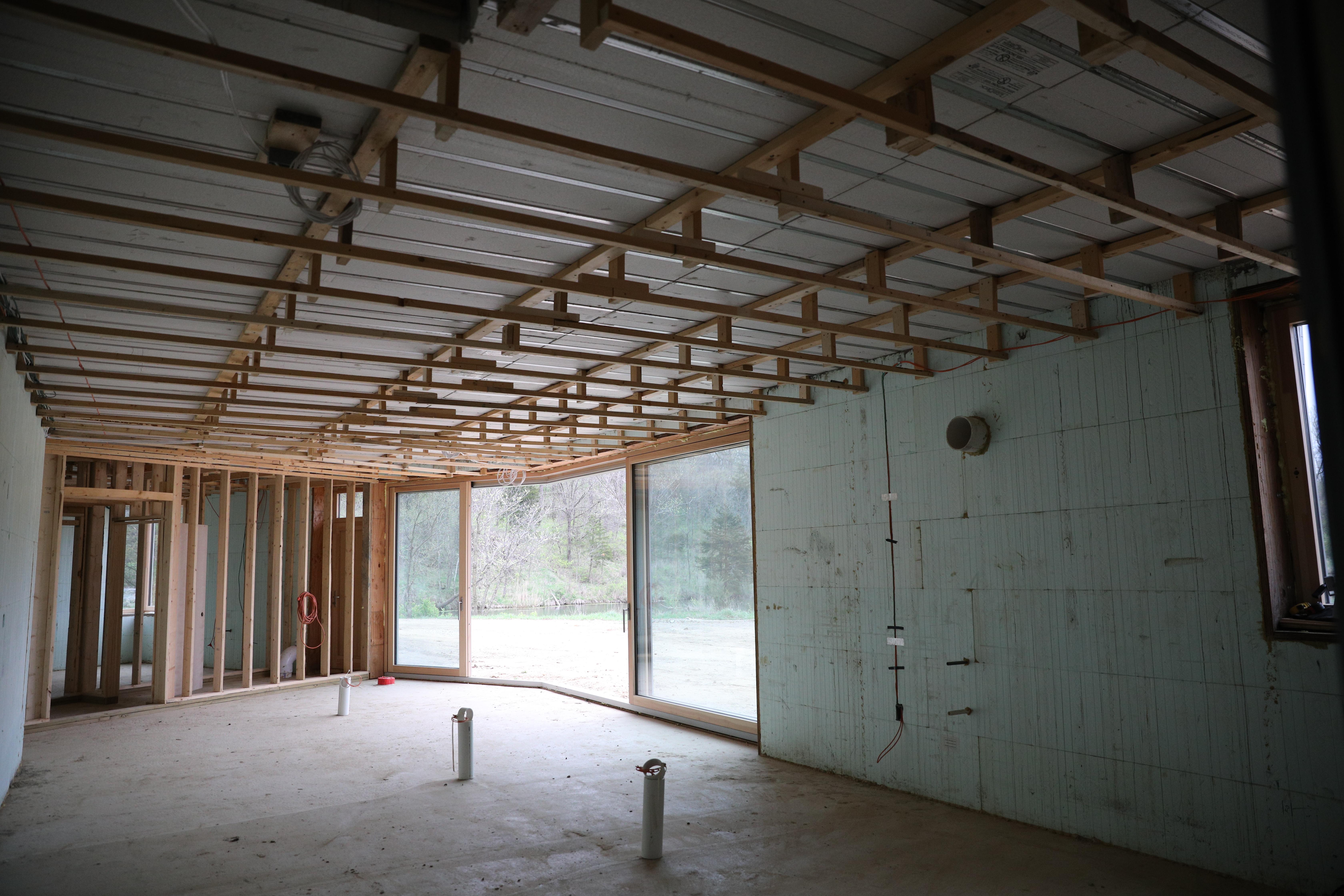 ICF walls & LiteDeck roof